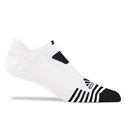 Adidas 2017 Einzel Cushion No-show Niedrig Herren Socken - Weiß/schwarz, UK 10.5-13.5 (Golf Socken Adidas Weiß)