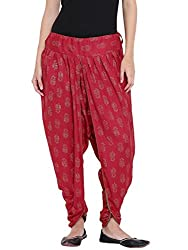 9rasa Women Cotton Viscose Hand Block Printed Dhoti