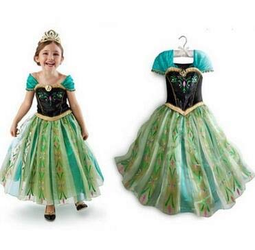Kleid Königin Prinzessin Schnee Kostüm - LLLucky 150cm Mädchen Prinzessin Kleid Party Outfit Kostüm Schnee Königin Prinzessin Halloween Kostüm Cosplay Kleid