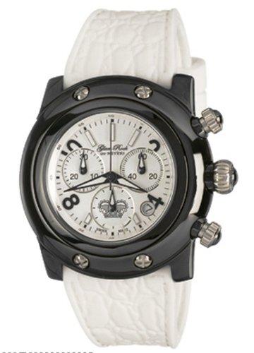 Glam Rock GR30103 - Reloj de mujer de cuarzo, correa de goma color blanco