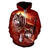 R-Ronsten Loup Imprimer Wolf Dépendance Mutuelle Chaud Chaud Vente Sweatshirts Harajuku O-Neck Pull À Capuche LMWY-372 L...