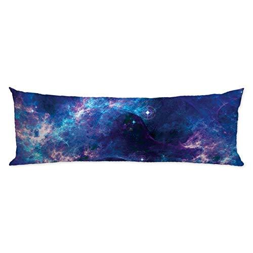 CiCiDi Seitenschläferkissen 5ft (140 x 40 cm) Lange Kissenbezug Raum Nebula Universum Planet Muster Retro Galaxy Tribal Body Kissenbezug Maschine waschbar weiche Baumwolle Kissenbezug