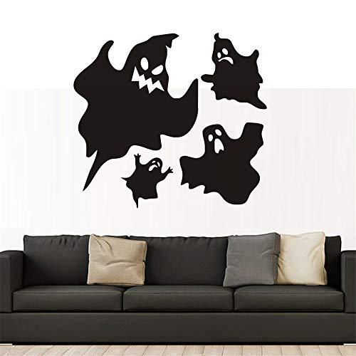 mer Wandtattoo Schlafzimmer Schwarzer Geist Halloween lustig für Kinderzimmer Fenster Hintergrund Home Decor Aufkleber für Wand ()