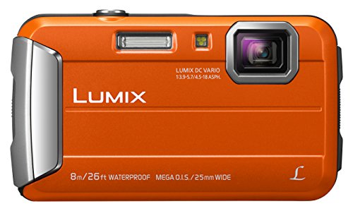 Wasserdichte Kameras (Panasonic LUMIX DMC-FT30EG-D Outdoor Kamera (16,1 Megapixel, 4x opt. Zoom, 2,6 Zoll LCD-Display, wasserdicht bis 8 m, 220 MB interne Speicher, USB) orange)