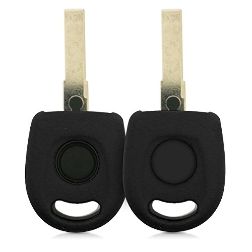 kwmobile Accessoire clé de Voiture pour VW - Coque pour Clef de Voiture VW 1-Bouton en Silicone Noir - Étui de Protection Souple