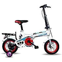 LETFF Bicicleta Plegable para Adulto de 16 Pulgadas para absorción de Impactos de Velocidad de niños