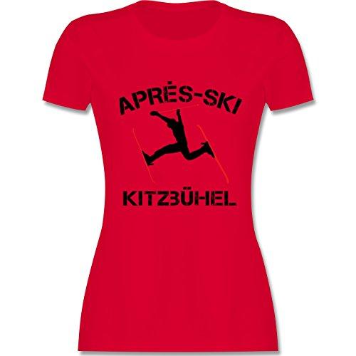 Après Ski - Apres Ski Kitzbühel - tailliertes Premium T-Shirt mit  Rundhalsausschnitt für Damen