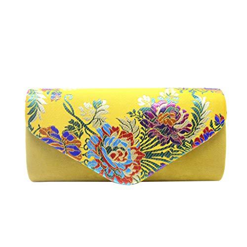 Mitlfuny handbemalte Ledertasche, Schultertasche, Geschenk, Handgefertigte Tasche,Mode Frauen im chinesischen Stil Stickerei Cocktail Party Tasche Kette Abendtasche Riff-cocktail