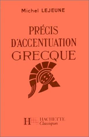 Prcis d'accentuation grecque