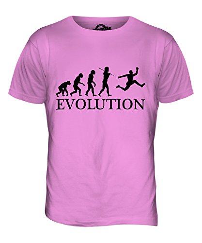 CandyMix Dreisprung Evolution Des Menschen Herren T Shirt Rosa