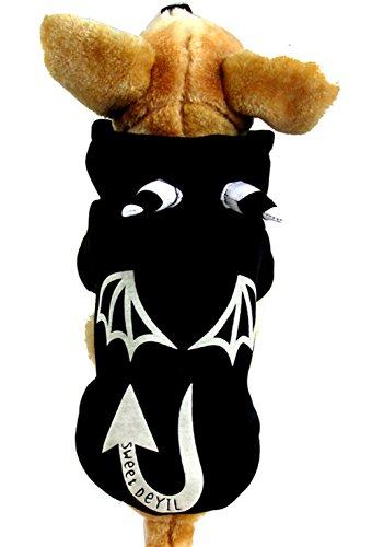 PoodleHouse Haustierkostüm Dämon für Halloween, Schwarz