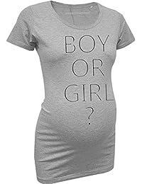 Love Rules | coole Umstandsmode Stretch T-Shirt | Boy or Girl ? | Schwangerschaftsmode mit Slogan