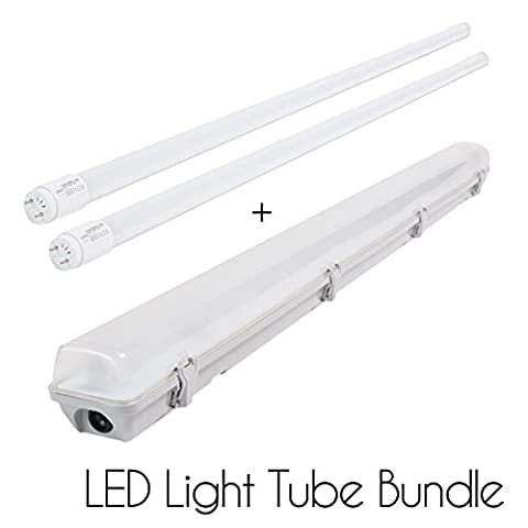 2 X 18W 4 FT 1200mm T8 LED Tube Strip Light Bundle with Opaque cover LED Baton casing