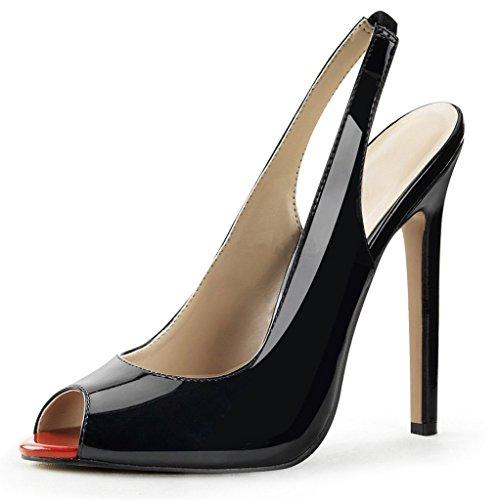 Kolnoo - Zapatos con tacón Mujer, Color, Talla 40 EU / 9 US