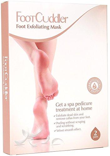 2 Pairs Exfoliating Foot Mask – Callus Remover Foot Peel Pedicure Spa Pads – Hard Skin Peeling Socks – Natural Exfoliator Dry Skin Remover – Cracked Heel Detox by FootCuddler