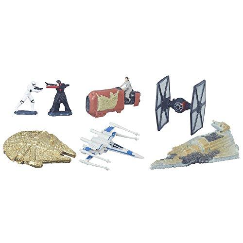 Star Wars Micromachines Schlacht auf Jakku Spielset Gold Serie Hasbo B6600 2 Figuren, Fahrzeuge und Raumschiffe