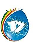 Folat 8Stk. Luftballons 30cm Zahlenballons 17 Jahre