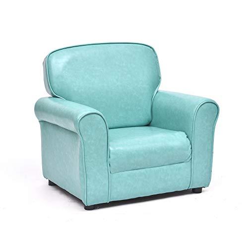 Wayerty bambini divano, poltrona per bambini legno massello bambino mobili imbottita divanetto cartoon mini carino pigro ragazzo e ragazza sedia per bambini-cielo blu 61x45x55cm(24x18x22inch)