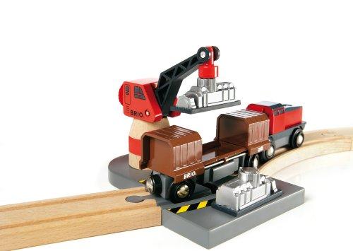 Imagen 11 de Brio - Set circuito de tren, puerto de cargar y descargar (33061)