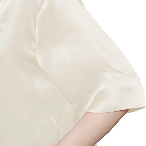 LILYSILK Camicia Da Notte Aderente Di 22 Momme Pura Seta Da Donna Con Collo V Beige