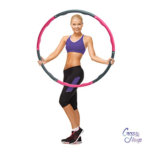 Ocean 5 Crazy Hoop Medium Pro Hula Hoop Reifen, 1,5kg Gymnastikreifen mit Schaumstoff, zum abnehmen