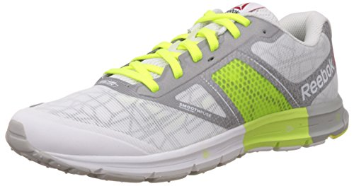 Reebok One Cushion 2.0 City Lights, Chaussures de Course Homme Blanc - Weiß (White/Silver Met/Solar Yellow)