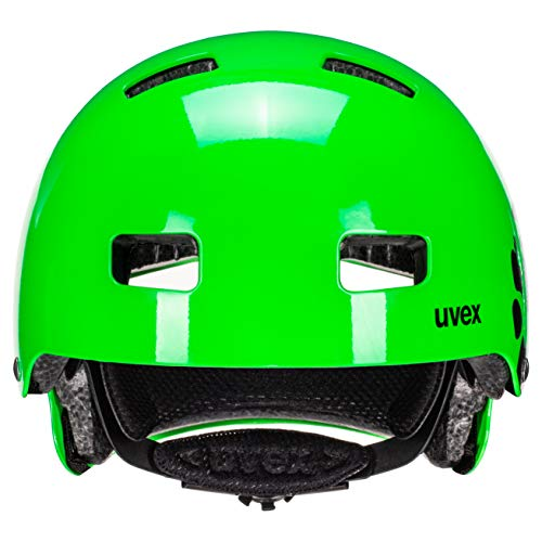 UVEX Kinder Kid 3 Radhelm, Dirtbike Green, 55-58 cm - 4