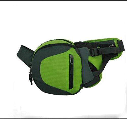 ZYT Borsa donne e uomini a cavallo tasca telefono tasche bottiglia d'acqua in esecuzione petto multifunzionale estate Pack . cool black army green