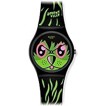 kidrobot for Swatch GB252 - Reloj analógico unisex de cuarzo con correa de silicona multicolor