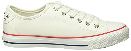 Springfield - 1.frq.sneaker Puntera Goma Y Tachas, Scarpe sportive Donna Blanco (bianco)