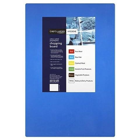 Chefs Larder Hygiene Chopping Board Blue (Raw Fish) 45cmx30cm