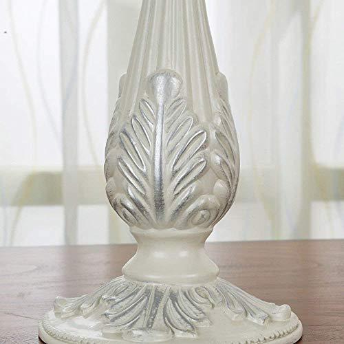 XQY Retro Kerzenhalter Dekoration Kerzenhalter Harz Material Romantische Mode Haushaltsgegenstände Schwarz und Weiß Optional Zwei Größen,13.3 * 26.8cm,Weiß