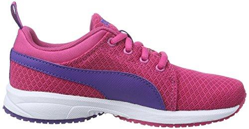 Puma Carson Mesh PS, Baskets Basses Mixte Enfant Rose - Pink (Fuchsia Purple-Prism Violet 04)