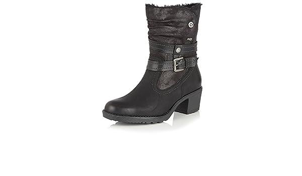 aae7370614b Lotus Mallory Womens Calf Length Boots 3/36 Black: Amazon.co.uk ...