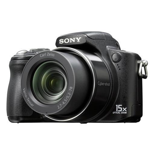 Sony DSC-H50 B Digitalkamera (9 Megapixel, 15-Fach Opt. Zoom, 7,6 cm (3 Zoll) Display, Bildstabilisator) schwarz (Dsc-h50 Cybershot Sony)