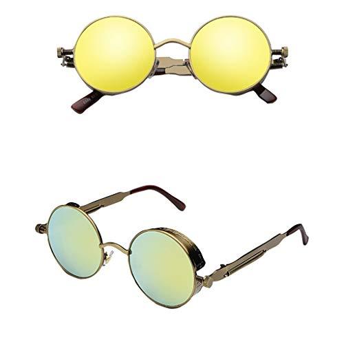 QUINTRA Sonnenbrille Unisex Vintage verspiegelte Sonnenbrille Runde quadratische Brillen-Sport-Sonnenbrille im Freien