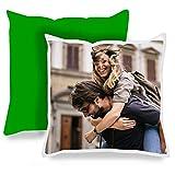 APRIL Cojines Personalizados con la Foto y el Texto Que Quieras (Cojin Verde)