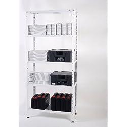 Ar Storage - Estanteria Metal con Torn 1700X750X300Mm 5 Band 40Kg Blanco