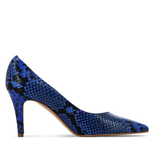 ARIA escarpins femme imprimé optique serpent Bleu