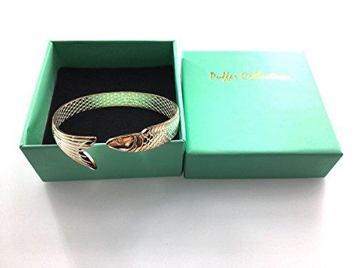 Puffer, collezione da donna e bambina in argento 925placcato braccialetto Vintage Burnout Cina koi