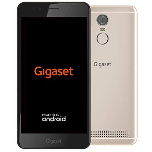 Gigaset GS180 Smartphone ohne Vertrag (12,7 cm (5 Zoll HD) 16:9 Display, 16GB Speicher, Pure Android 8.1) champagne (Ersatzteile Grün Beats)