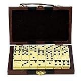EUROXANTY® - Gioco da Tavolo a 28 Pezzi Domino con Cartella in Similpelle Gioco da Tavolo Classic Board Game