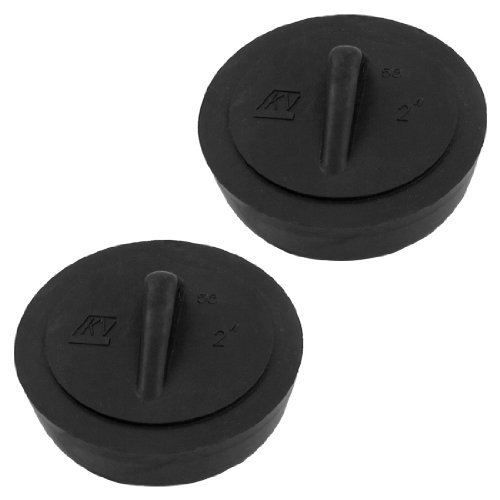 sourcingmapr-rubber-disposal-stopper-water-sink-strainer-2-inch-diameter-2-pcs-black