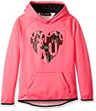 Under Armour Girls armourfleece Hoody Heart Icon, Penta Pink Light HEA (975)/Black, Youth