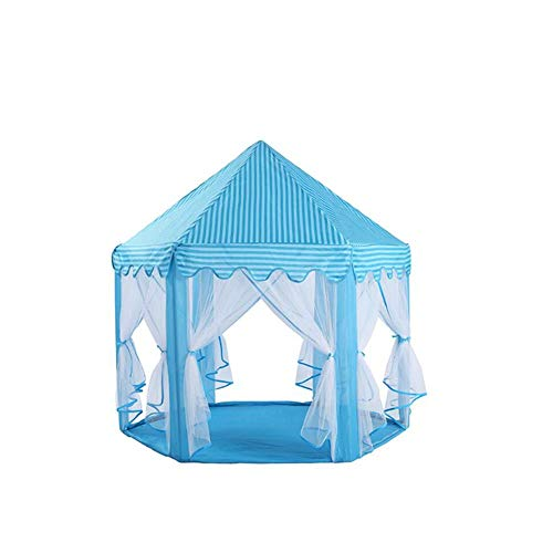 SLIANG Zelt, Indoor oder Outdoor tragbare Faltzelt Spiel Mesh Gaze Moskitonetz Baby Dekoration Prinzessin Schloss Zelt (Prinzessin Schloss Dekoration)