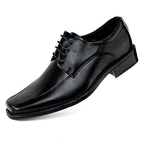 Herren Schuhe Lackschuhe Slipper Business Edel Übergröße Halbschuhe (47)