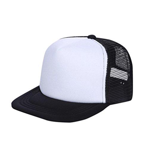 Evansamp Sommer Kinder Hüte, Kinder Baby Jungen, Sun Hat Cap Atmungsaktiv Show Hat Farbe Mesh Baseball Caps Hüte für Mädchen 3-8Jahre Alt, Kinder, Schwarz