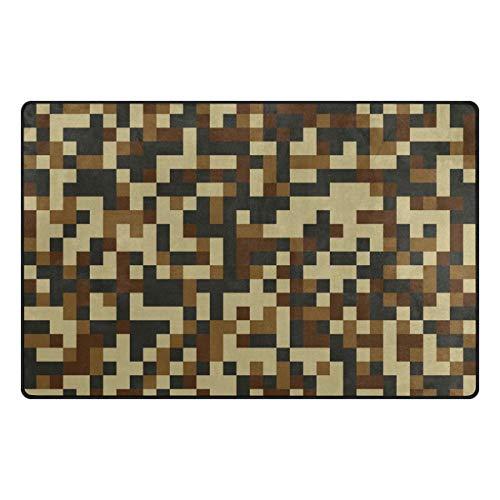 MALPLENA Camouflage Mosaic Carpet Entry Way Door Mat Doormat Area Rug Floor Mats Shoes Scraper for living room/dining room/bedroom/Kitchen non slip