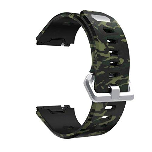 Bande pour Fitbit Ionic, Gaddrt sport mode pattern bracelet de bracelet en silicone remplacement de la bande (K)