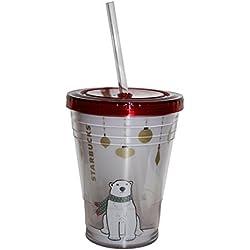 Starbucks vaso polar colección infantil oso polar Oso Polar Navidad Fría bebida taza 16oz/473ml